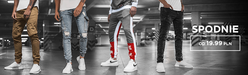 spodnie joggery męskie