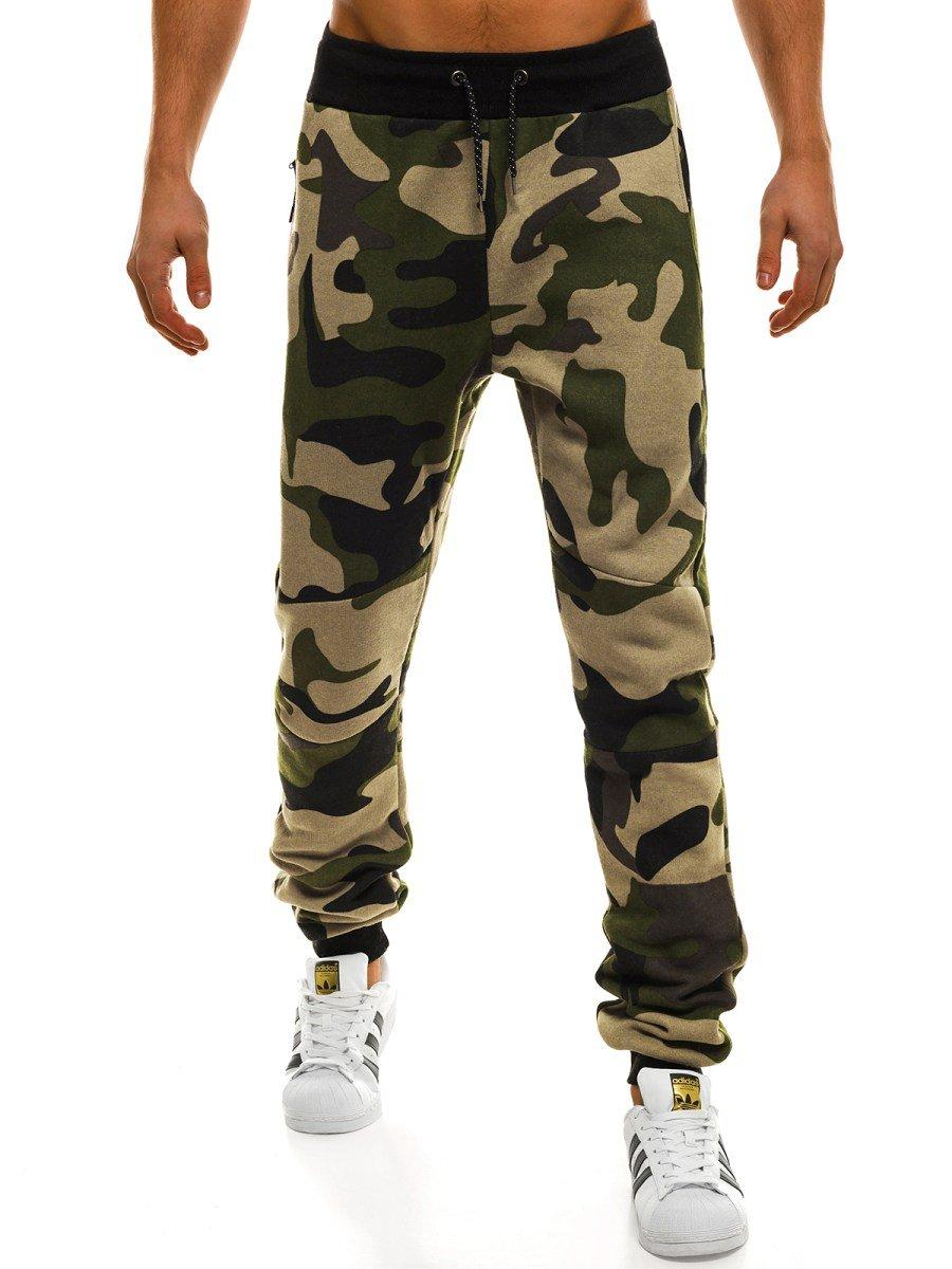 Spodnie męskie. Spodnie jeansowe, joggery moro, dresy na