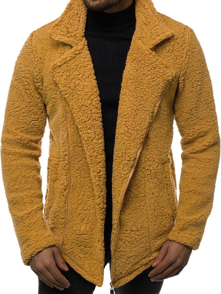 bluza męska rozpinana camelowa