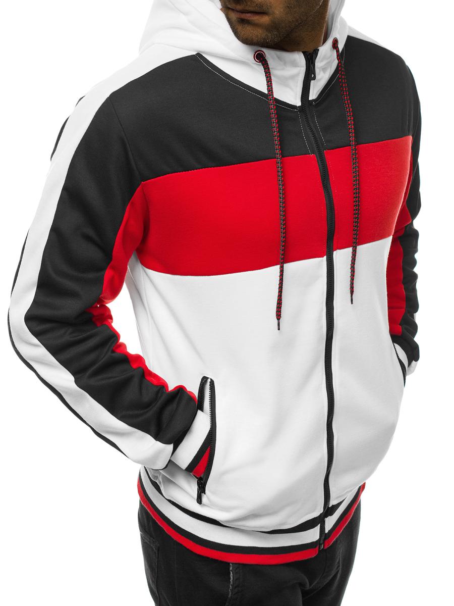 bluza sportowa czarno biała męska