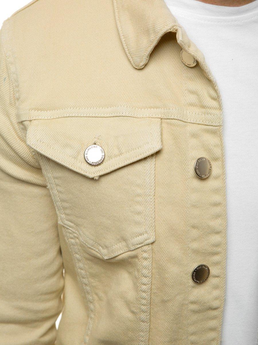 kurtka elegancka męska beżowa