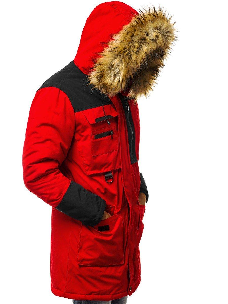 ozonee js 201817 kurtka męska czerwona