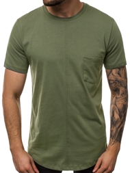 T-SHIRT MĘSKI KHAKI OZONEE MR/19101